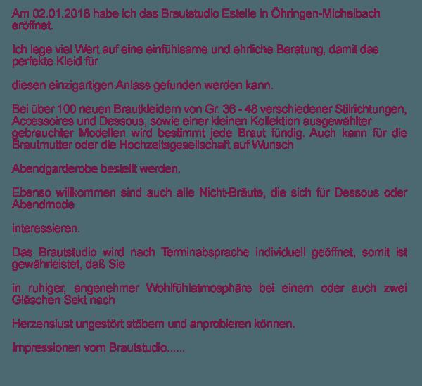Brautdessous, Brautladen in  Eberstadt - Hölzern, Buchhorn, Lennach und Klingenhof